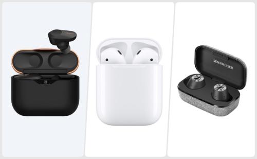So sánh thông số Sony WF-1000XM3, Apple AirPods và Sennheiser Momentum true wireless