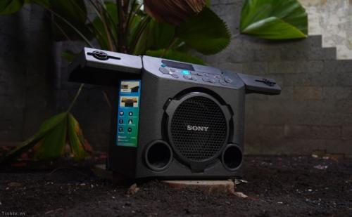Sony GTK PG-10, loa di động với thiết kế quen thuộc, dễ sử dụng, nghe được Bluetooth, CD, đài radio