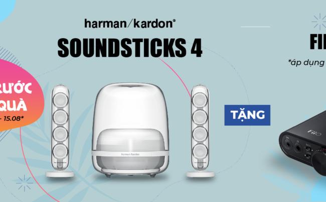 Pre-Order Harman Kardon Soundsticks4, Tặng Ngay Headphone AMP/DAC FiiO K3