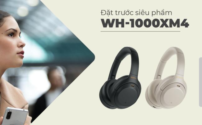 Đặt Trước Tai Nghe Sony WH-1000XM4, Tặng Ngay Loa SRS-XB12